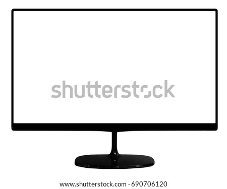 monitor isolated (monitor on white background) #690706120