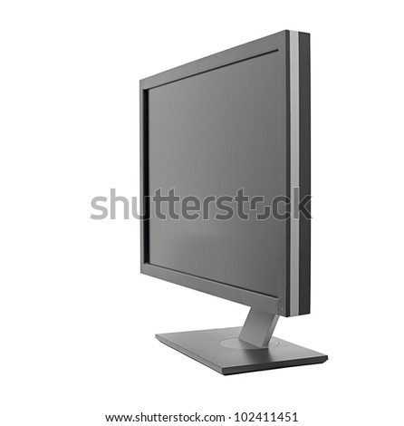 Monitor isolated on white background
