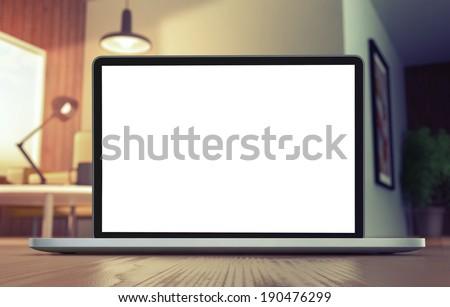 Monitor on floor