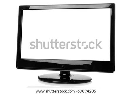 Monitor picture frame with centre isolated. Isolated on white background. Copy space