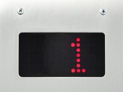 monitor show number 1 floor in elevator