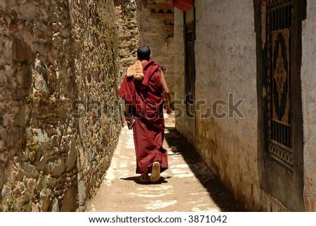 Monk in Tibet