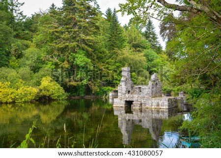 Monk's fishing house at Cong Abbey, County Mayo, Ireland