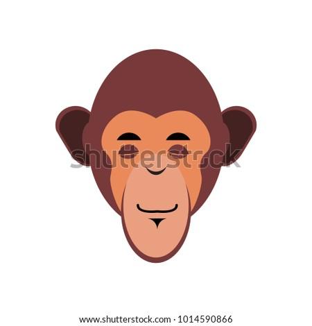 Monkey Sleeping Emoji. marmoset asleep emotion isolated. Chimpanzee face
