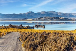 Mono Lake is a salt lake in California. Lime-tuff towers of bizarre shapes rise from the bottom of the lake. The natural wonder of the world is Lake Mono