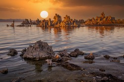 Mono Lake is a salty alkaline lake in Mono County, California, United States of America. It has an area of 183 square kilometres and an average depth of 17 metres.
