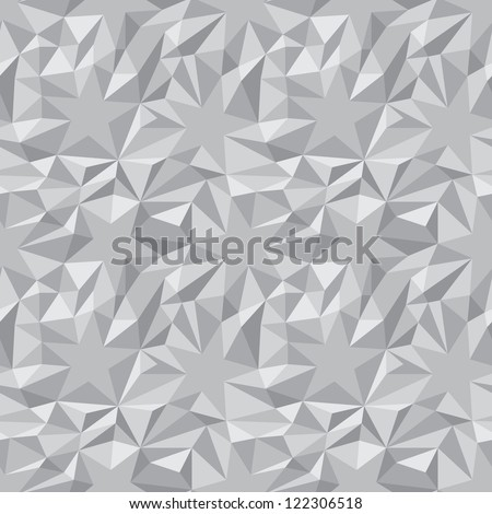 Monochrome abstract texture - the stars and triangles