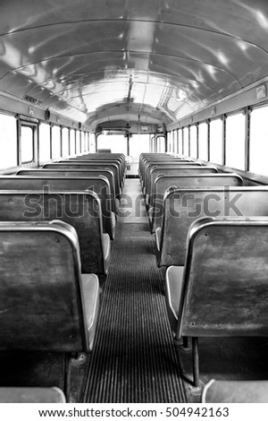 monochrome back of the bus  ...