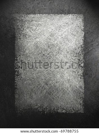 monochrome black, white, and gray grunge textured background with darker frame border, had copy space for text, title, image