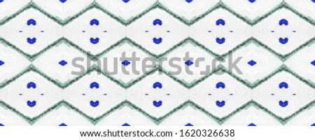 Monochrome Endless Material. Endless Painted Motif. Indigo Watercolor Shape. Turkish Ornate Pattern. White and Blue Tracery Illustration. Abstract Stains.