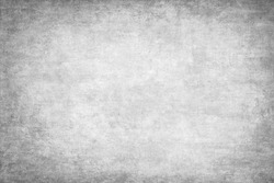 Monochrome texture painted on canvas.Artistic cotton grunge gray background.