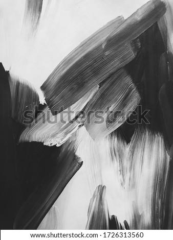 monochrome white black acrylic abstraction. beautiful background. modern Art Photo stock ©