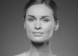 Monochrome woman beauty portrait healthy skin