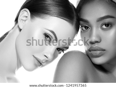 Monochrome women beauty ethnic portrait #1241957365