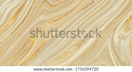 Monocolor alcohol ink marbling raster background. Liquid waves and stains. Black and gold abstract fluid art. Acrylic and oil paint flow monochrome contemporary backdrop, ivory marble with golden vein