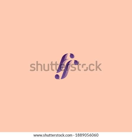 Monogram, a combination of letters F, C Stock fotó ©