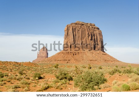 Monolith in Monument Valley in Utah in the United States of America