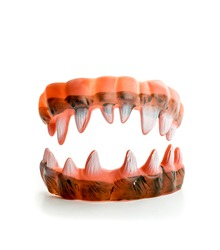 Monster's ugly sharp teeth