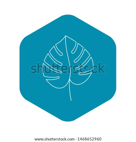 Monstera leaf icon. Outline illustration of monstera leaf icon for web