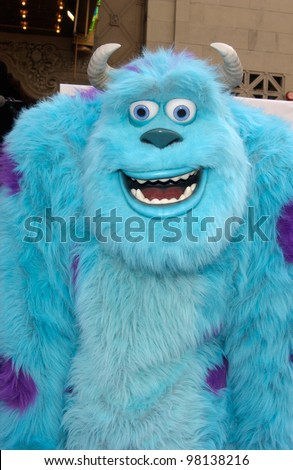 Monsters, Inc character JAMES P. SULLIVAN at the world premiere of Disney/Pixar's Monsters, Inc., at the El Capitan Theatre, Hollywood. 28OCT2001.   Paul Smith/Featureflash
