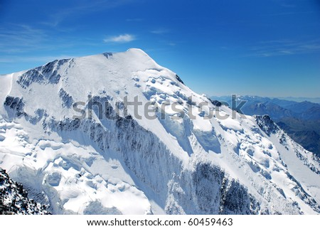 Mont Blanc, Chamonix, French Alps. France.
