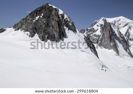 Mont Blanc Massif , natural heritage , French Alps