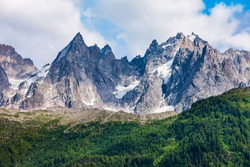 Mont Blanc or Monte Bianco meaning White Mountain is the highest mountain range in the Alps and in Europe, located between France and Italy