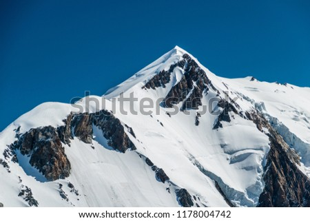 Mont Blanc summit from Aiguille de Bionnassay, Alps, France