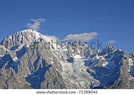 Mont Blanc summit, which is also called the roof of Europe oftmls
