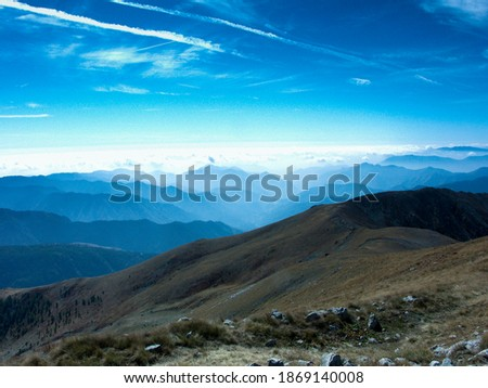 Mont Lappasse in the Mercantour Nation park in France. Far away you could see the sky Foto d'archivio ©