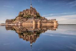 Mont Saint Michel, an UNESCO world heritage site in Normandy, France