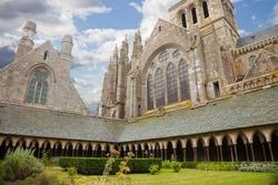 Mont Saint Michel cloister, France