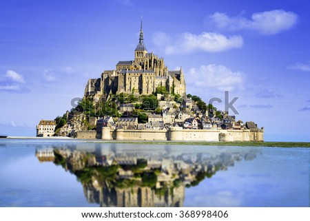 Stock Photo Mont saint Michel - Normandy - France