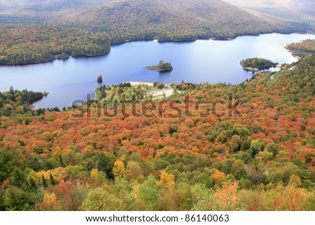 Mont Tremblant National Park in autumn