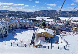 Mont Tremblant village resort in winter, Quebec, Canada