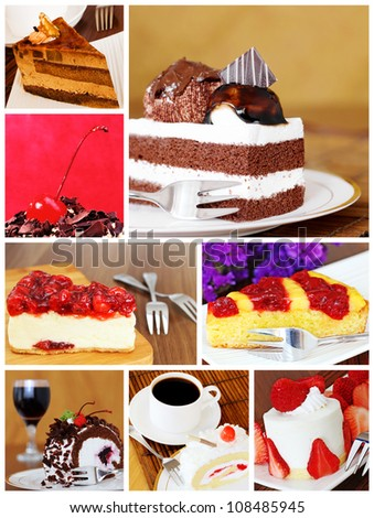 Montage of Delicious Cakes