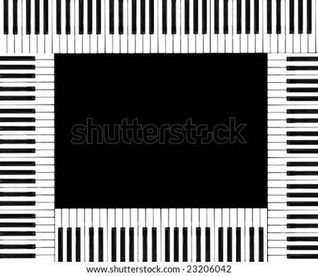 Montage of piano keyboards.