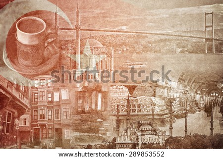 montage photo of istanbul on...