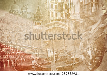 montage photo of venice on...