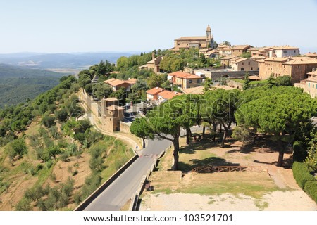 Montalcino, home of Brunello wine. Tuscany, Italy