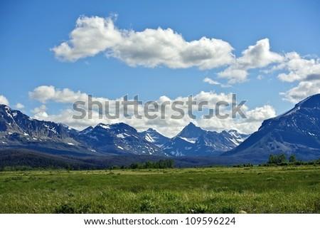 Montana's Rocky Mountains. Mountains Range Landscape. Montana, USA. Nature Photo Collection.