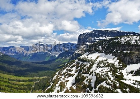 Montana, USA - Glacier National Park Landscape. Scenic Montana Photography Collection.