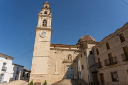 Montaverner church and bell tower, in Valencia (Spain).