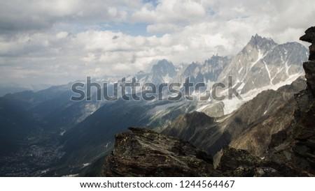 Montblanc from Chamonix, Alps. 4810