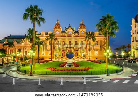 Monte Carlo. Casino, gambling and entertainment complex in Monaco, Cote de Azul, Europe. #1479189935