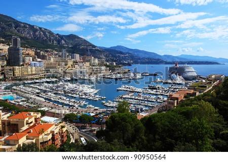 Monte Carlo city panorama, Monaco