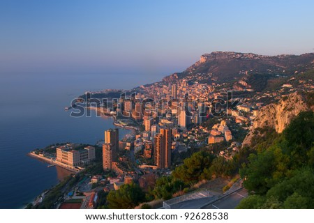 Monte Carlo, Monaco at sunrise