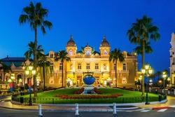 Monte Carlo, Monaco. Front of the Grand Casino.