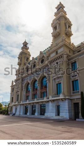 Monte Carlo Monaco. June 16 2019. A view of the Monte carlo Opera House in Monte carlo in Monaco #1535260589