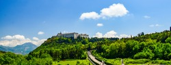 Monte Cassino,Italy-05.05.2019: Polish military cemetery at Monte Cassino
